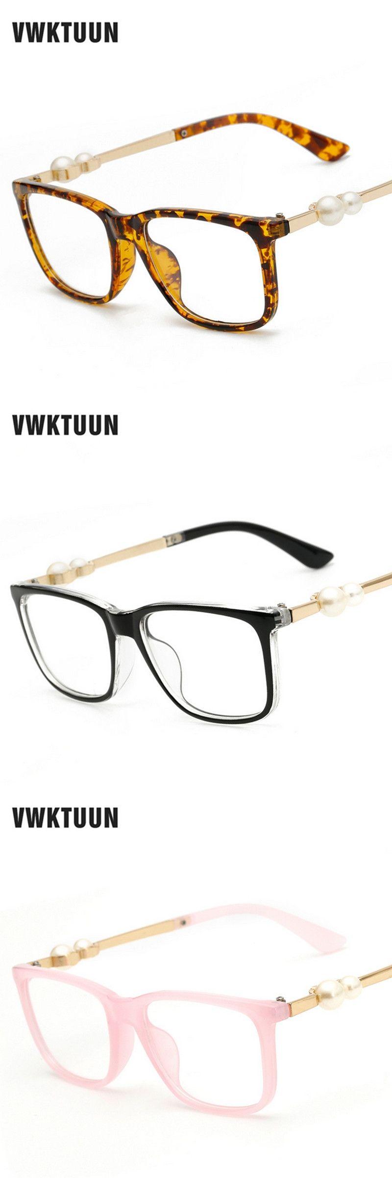VWKTUUN Eyeglasses Women Eye glasses Frame Men Spectacle Frame ...