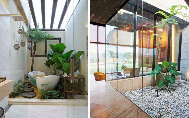 Viviendas con jard n interior patio pinterest blog - Decoracion de patios interiores ...