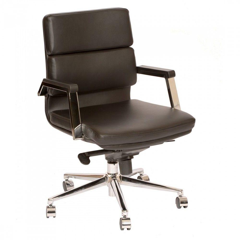 Armen Living Fabian Modern Office Chair In Black And Chrome Modern Office Chair Office Chair Used Office Chairs