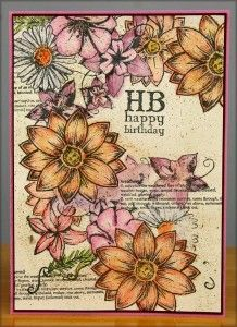 Weathered Florals unmounted stamps - Club Scrap