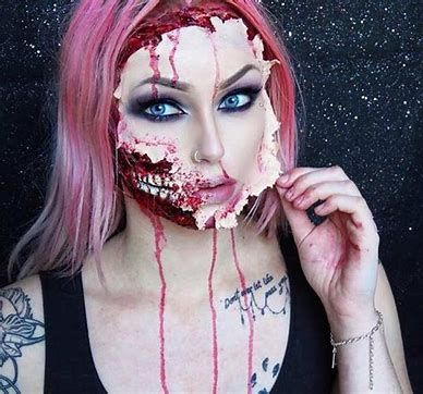 100 scary and unique halloween makeup ideas  cute