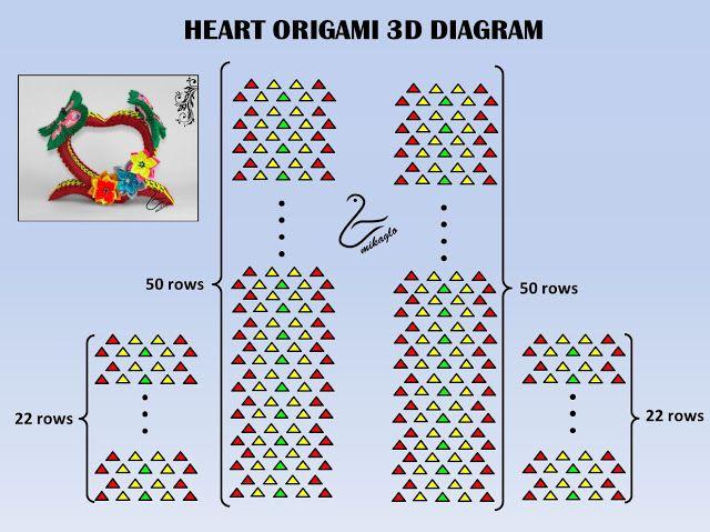 Origami Modulowe Origami 3d Jak Zrobic Serce Origami 3d Origami Patterns 3d Origami Heart 3d Origami