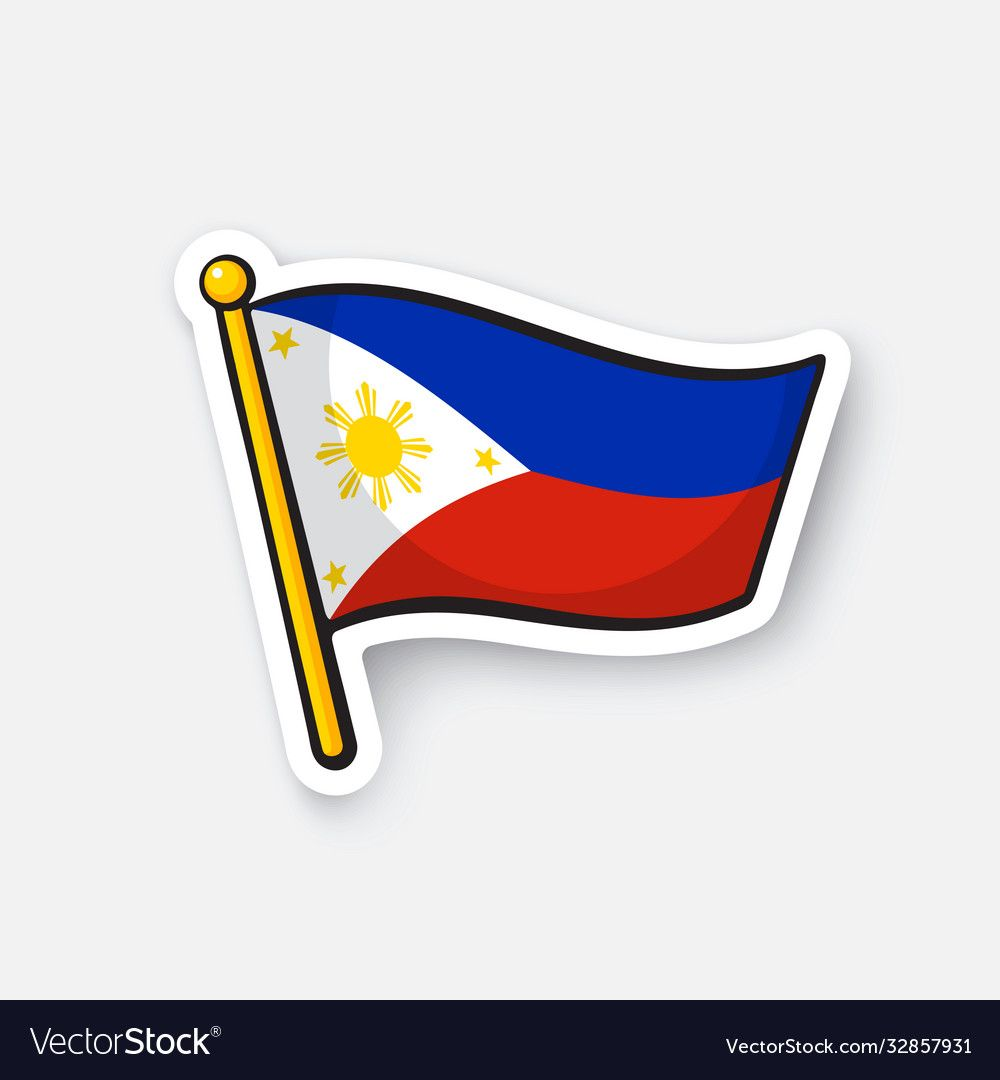 Vector Illustration Flag Of The Philippines Location Symbol For Travelers Cartoon Sticker With Contour Decora In 2021 Sticker Flag Philippine Flag Cartoon Stickers [ 1080 x 1000 Pixel ]