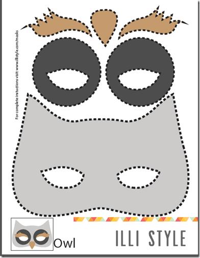 Free mascara disfraz owl mask animal masks y - Disfraces de buhos ...