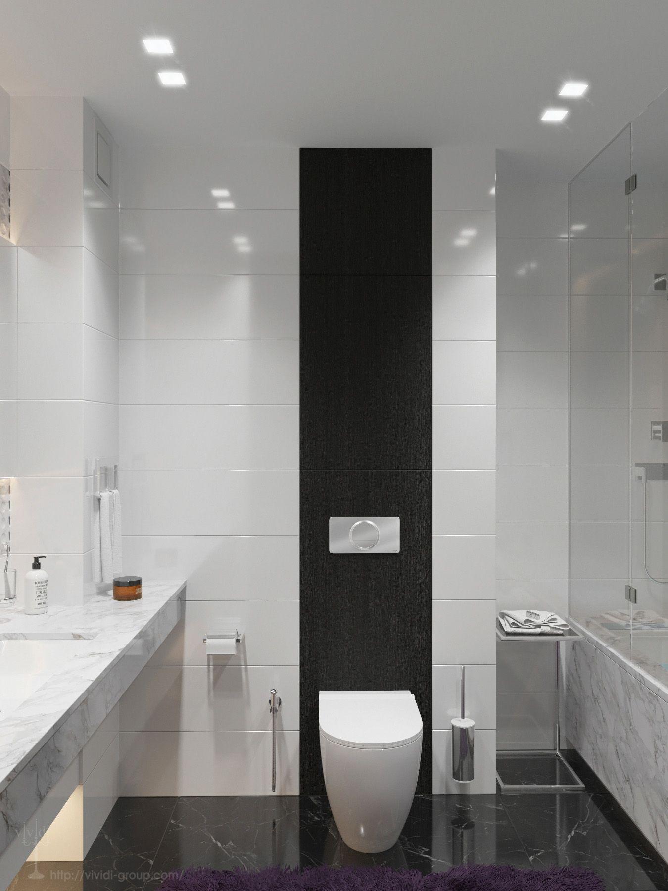 Contemporary bathroom / Rendering / Software: 3ds max ...