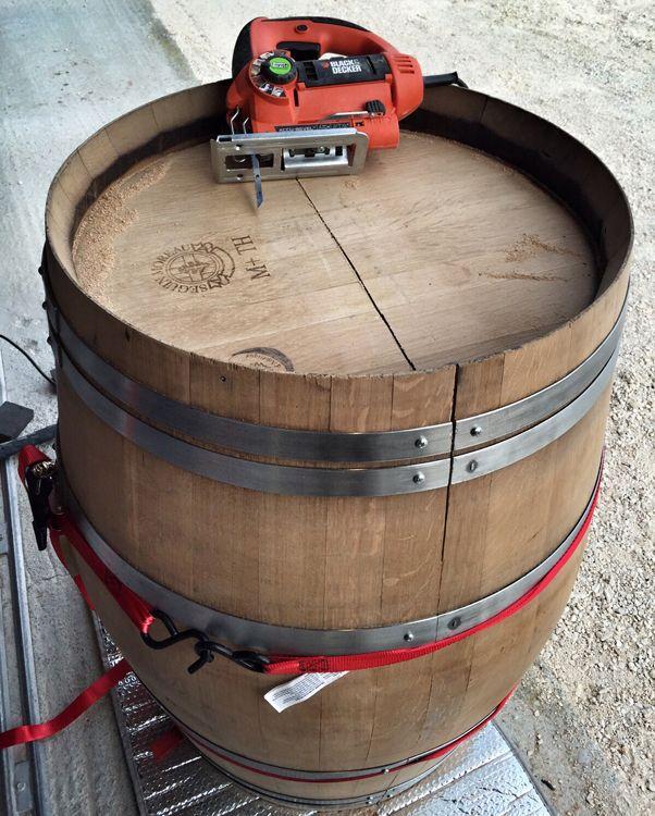 Wine barrel coffee table Bar ideas Pinterest Wine barrel