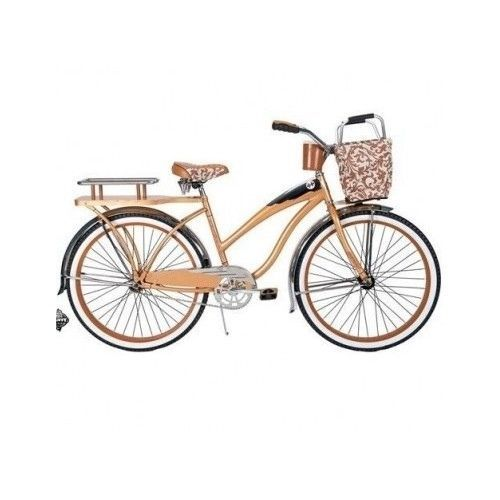 Women S Cruiser Bike 26 Vintage Retro Bicycle Beach Tires Seat Rack Basket City Cruiser Bike Beach Cruiser Bike Womens Bike