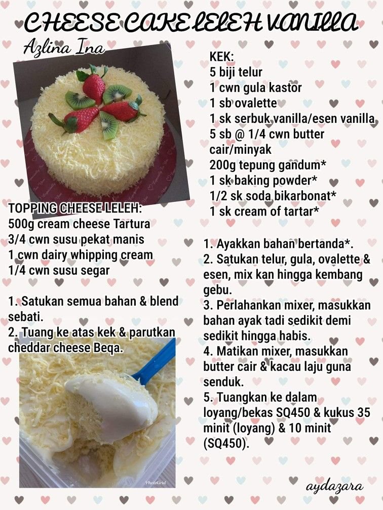 Cheese Cake Leleh Vanilla Cake Recipes Cake Baking Recipes Japanese Cheesecake Recipes