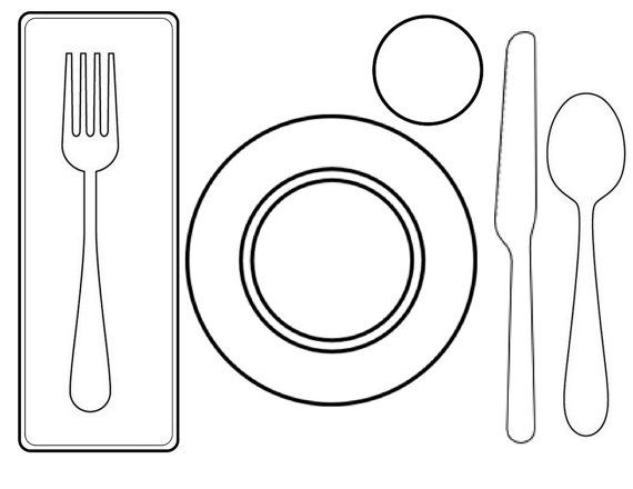 Napkin Fork Plate Knife Spoon Children Will Quickly Learn To