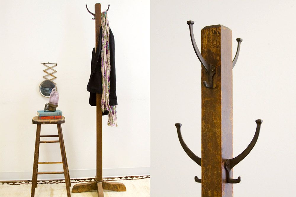 Old Fashioned Antique Wooden Coat Rack In 2019 Ref Hook Knob