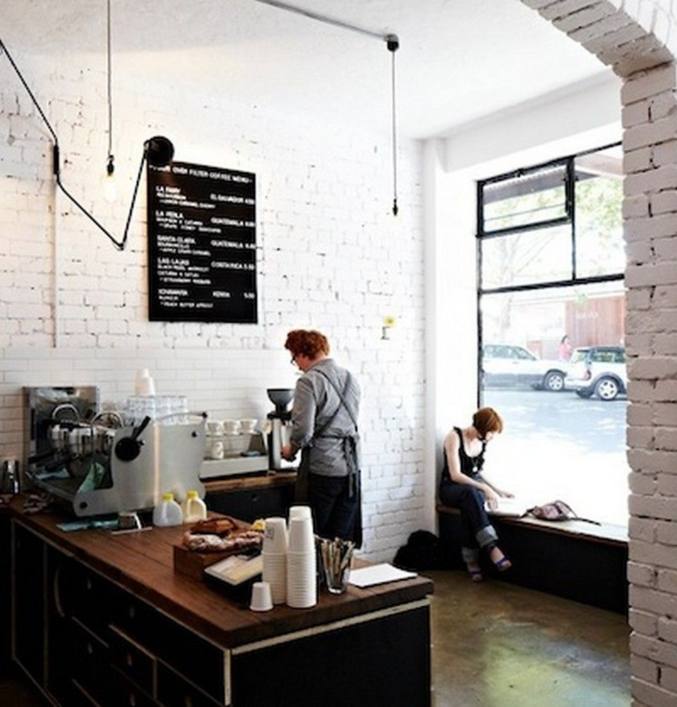 55 Awesome Small Coffee Shop Interior Design  Coffee Shop Extraordinary Coffee Shop Kitchen Design Decorating Design
