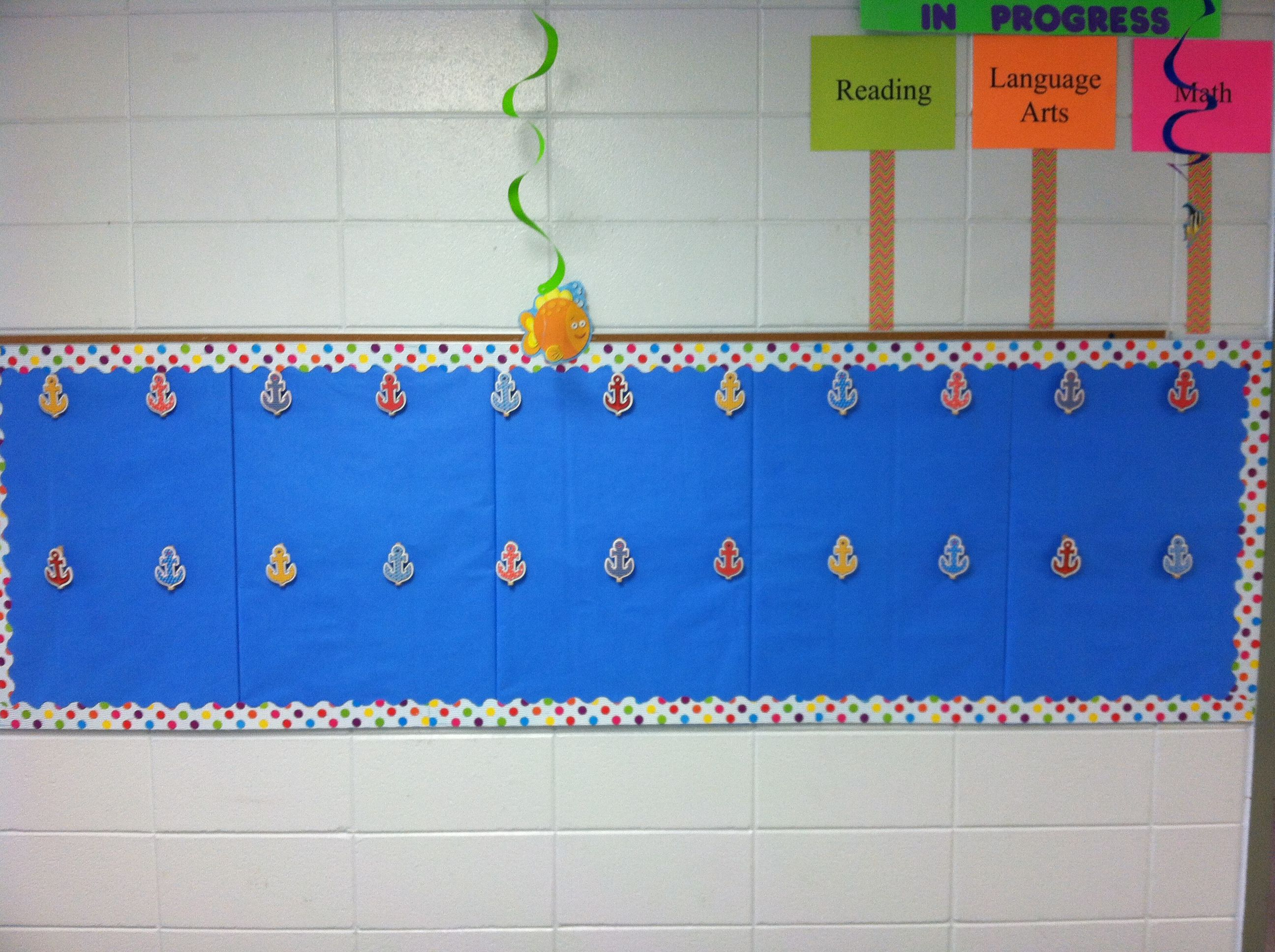 Nautical Theme Bulletin Board To Hang Up Students Work