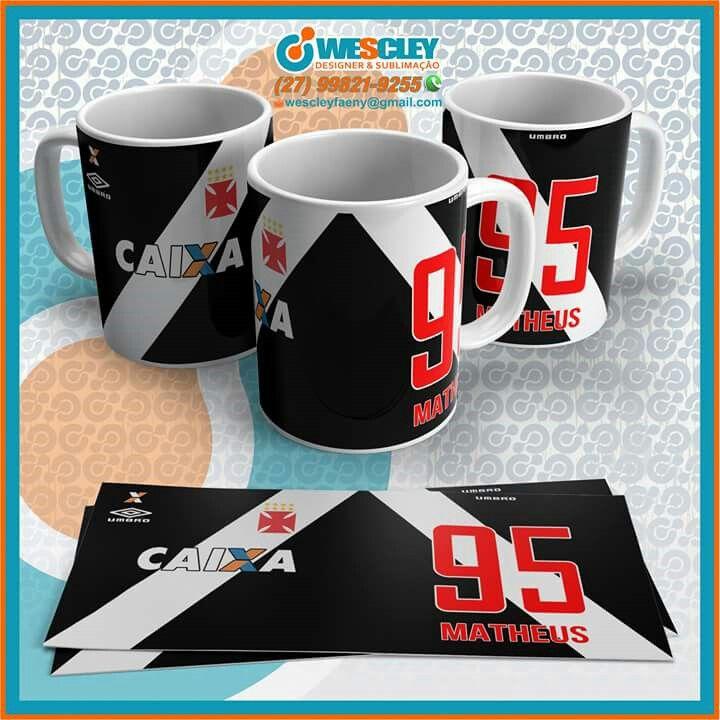 1dd4a02d1c Canecas Cerâmicas Seguimento Times Brasileiros ⚽  Botafogo     Flamengo      Vasco