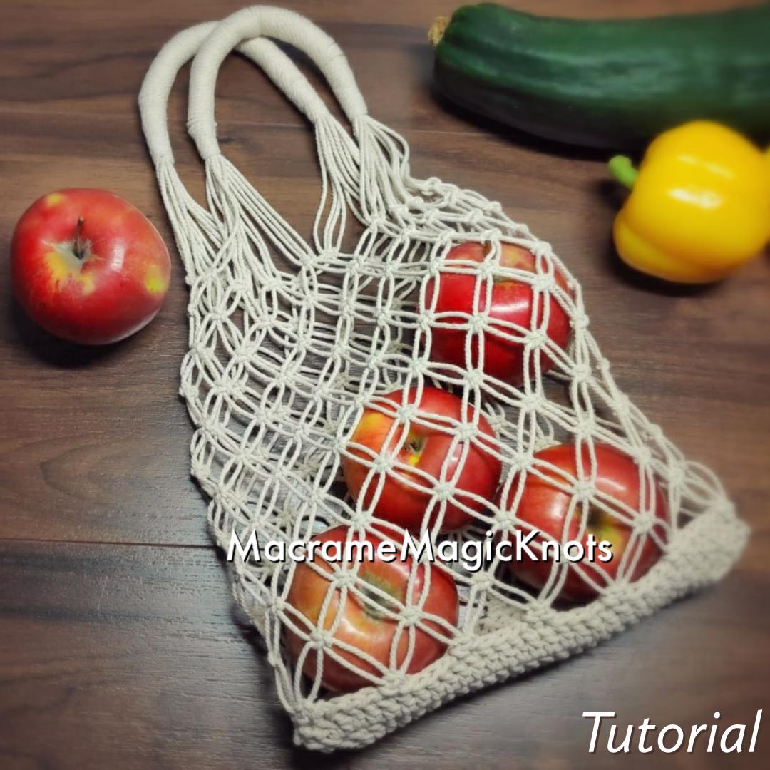 Macrame Market Bag Tutorial | DIY Shopping Bag