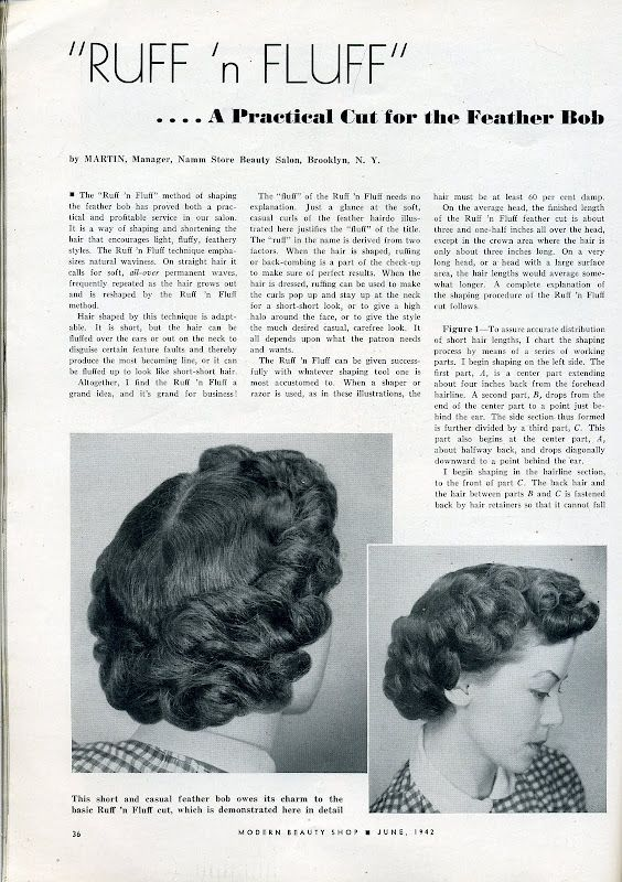 Fifties hair