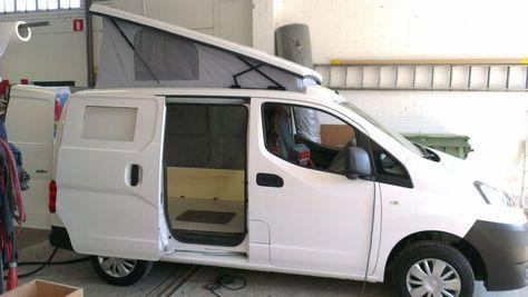 nissan nv200 camper afgerond customcamp teardrops. Black Bedroom Furniture Sets. Home Design Ideas