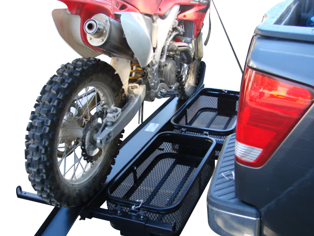 1000 Lb Dirt Bike Motorcycle Tow Hitch Carrier And Storage Baskets