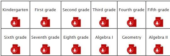 Sample Scope and Sequence for Math: click on