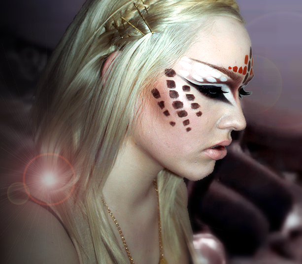 Recreation of Katy Perry's ET makeup Tribal makeup