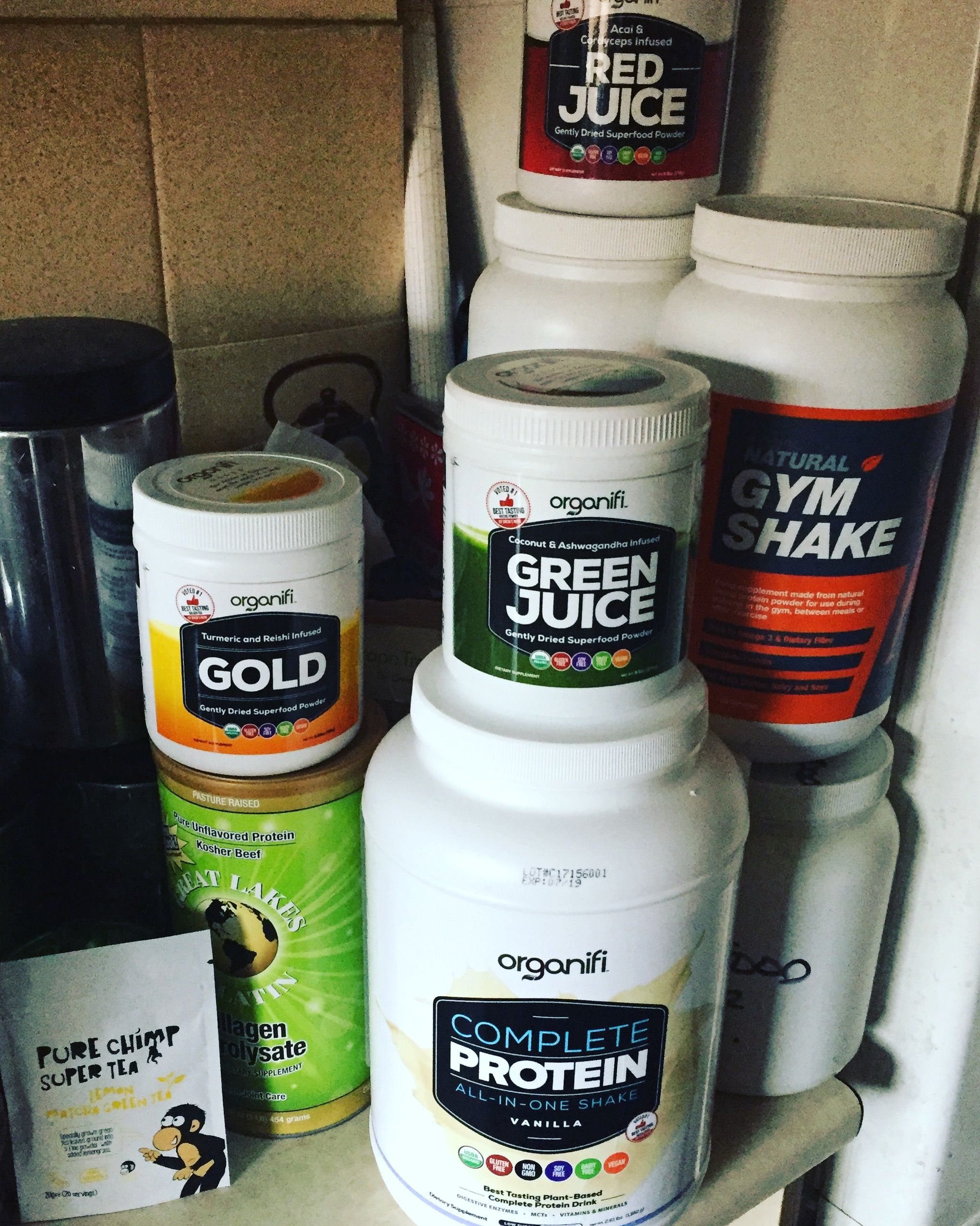 Organifi Gold Green Juice Red Juice Probiotics Complete Protein Vanilla To Save 15 At Checkout Jemma15 Organifi Complete Protein Collagen Protein Powder