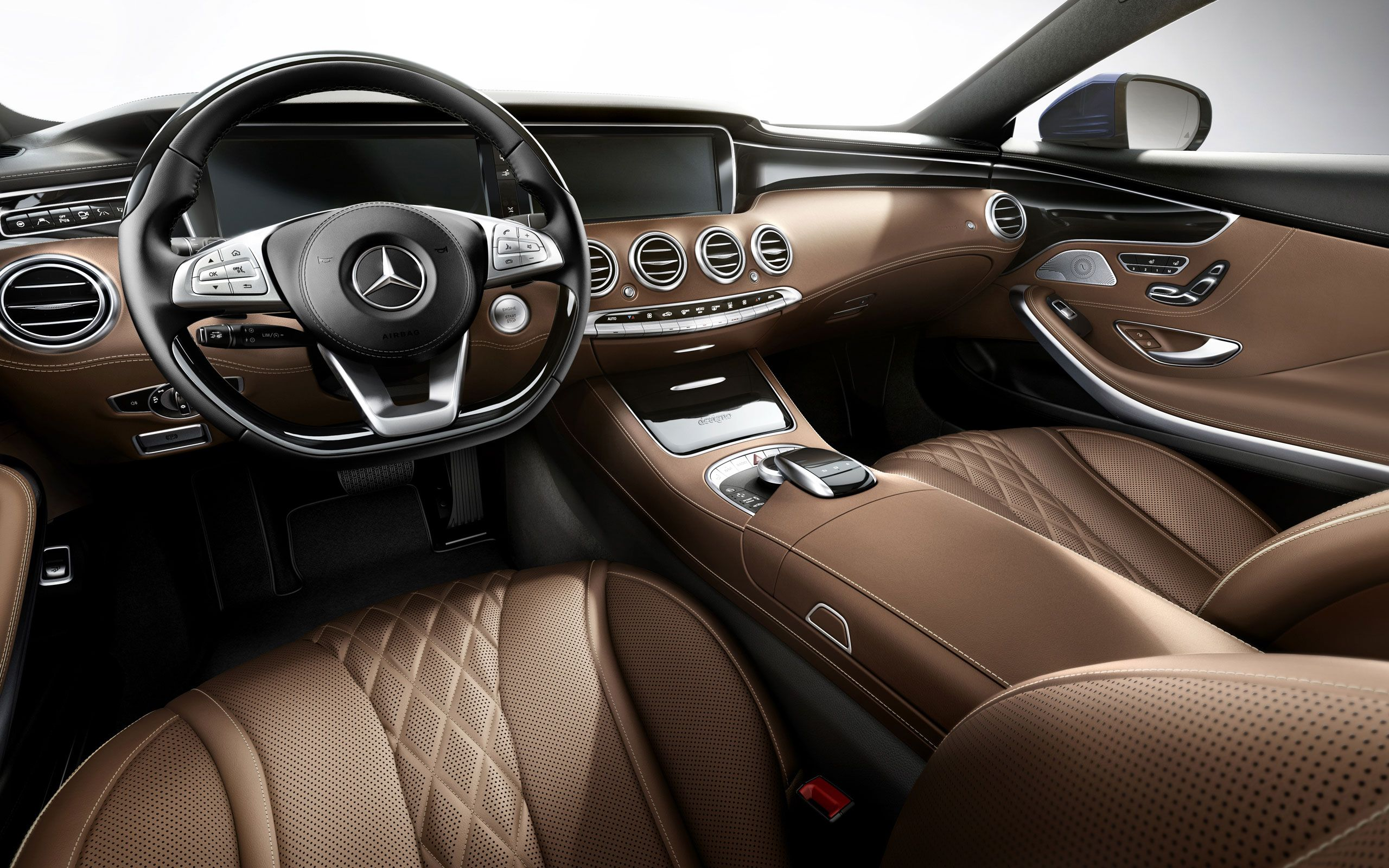 All New Mercedes Benz S Class Coupe European Model Shown With