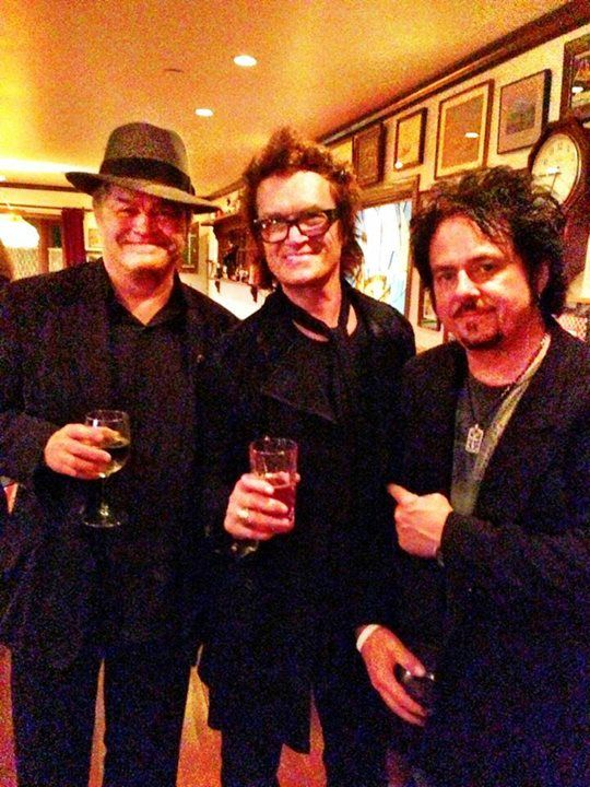 Last night in Bel Air (Jan 12 '014). With my pals for 30 years Micky Dolenz (The Monkees) and Steve Lukather (Toto). Lots of love here...