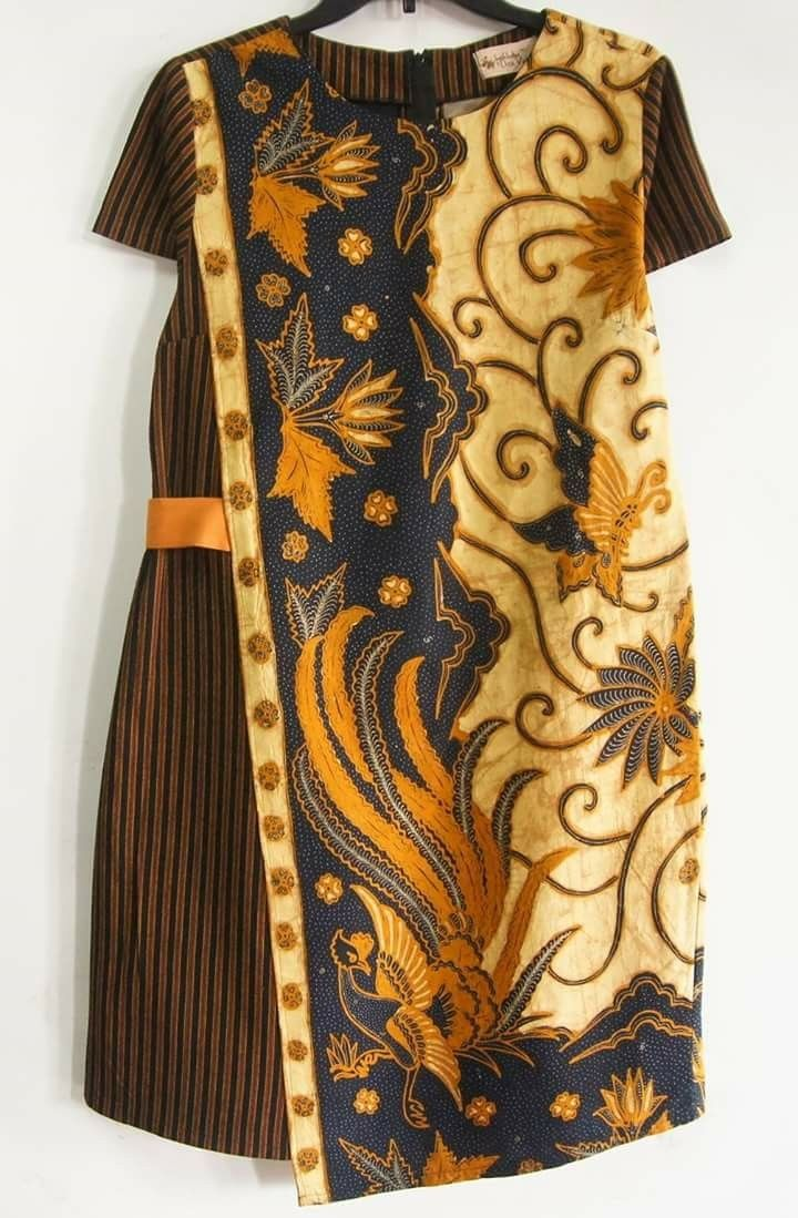 batik kombinasi lurik  Gaya busana, Model pakaian, Pakaian wanita