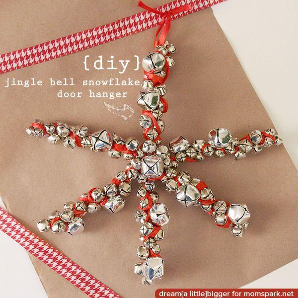 Hai to make a Jingle Bell Snowflake! | Snow flakes diy, Creative christmas crafts, Jingle bells diy