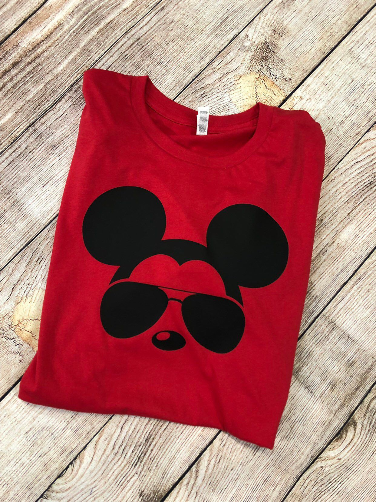 e556bad3 Excited to share this item from my #etsy shop: Mens- Boys- Girls- Womans-  Family- Disney Inspired Mickey Mouse Shirt with Aviator Glasses Dianey  Aviator ...