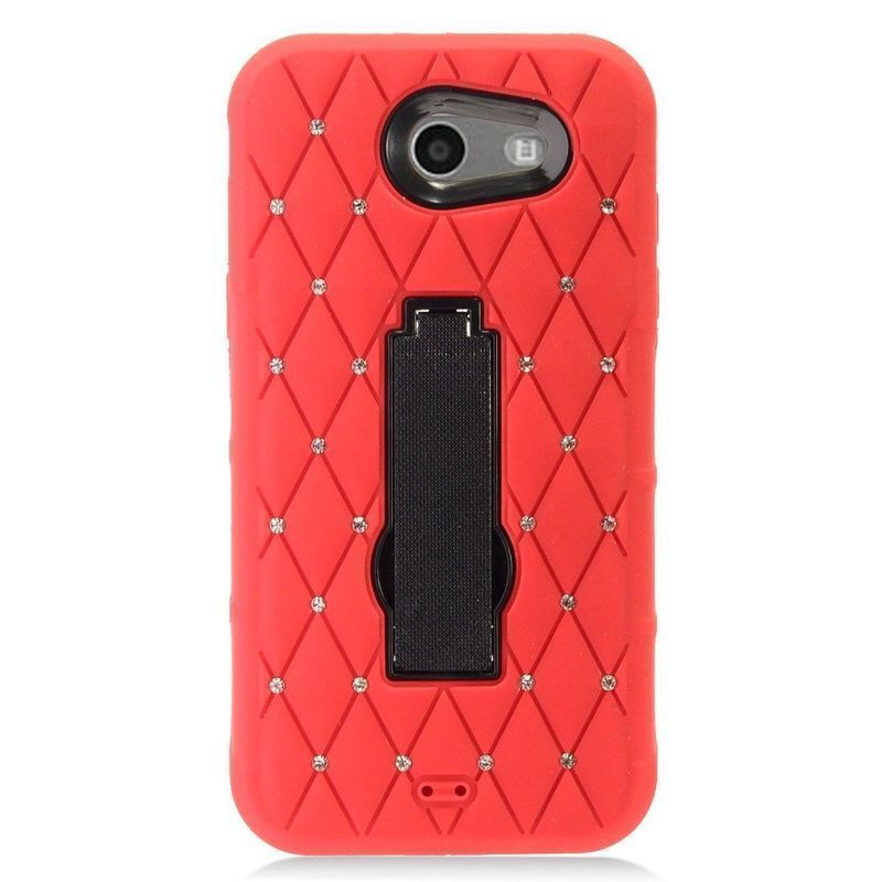 Insten Red/ Hard PC/ Silicone Case with Stand For Samsung Galaxy Amp Prime 2/ Express Prime 2/ J3