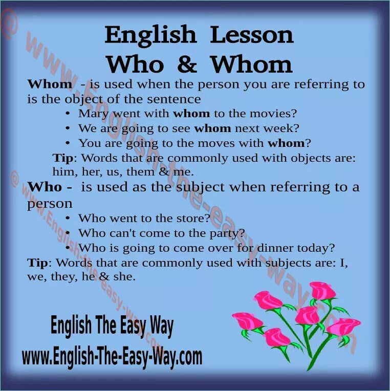 For More English Lessons Go To Http English The Easy Way Com Grammaire Langue Anglais