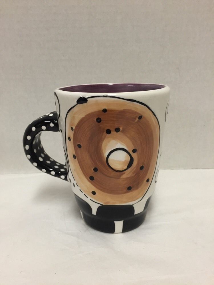 Bagel Mug With Love Joanne Coffee Cups by Pop Artist Delomba Purple Interior #WithLoveJoanne