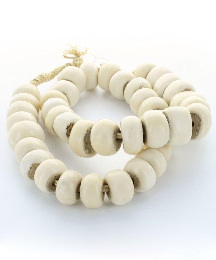 Bone Beads - White