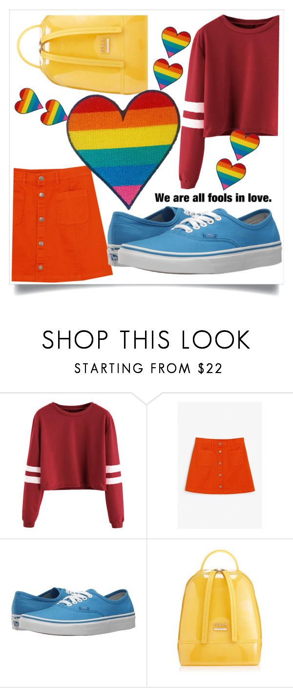"""love"" by thais-santana-1 ❤ liked on Polyvore featuring Monki, Vans, Furla and pride"