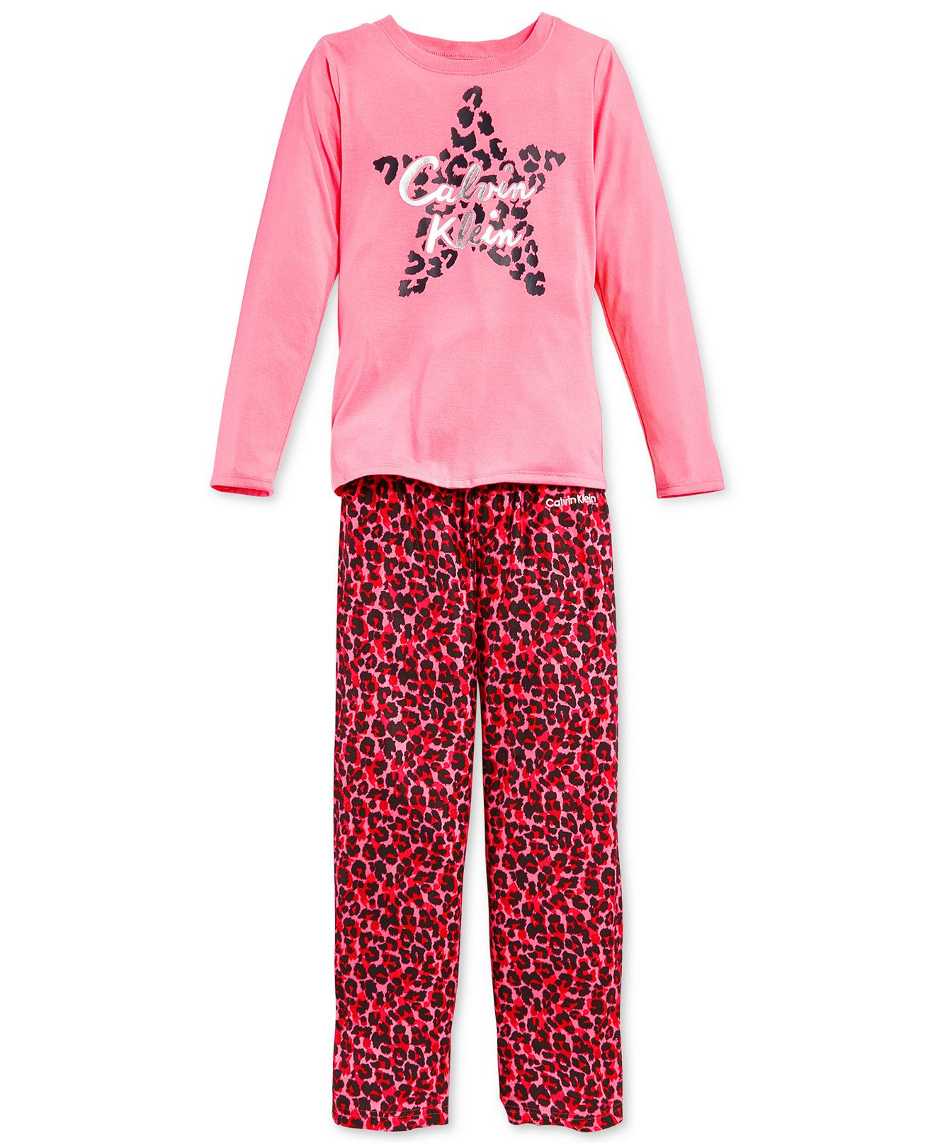 Calvin Klein Girls 2 Piece Animal Print Pajamas Pajamas Kids