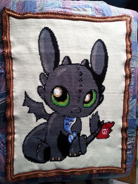 Ravelry: darkleena\'s Chibi Toothless | Crochet Blankets | Pinterest ...