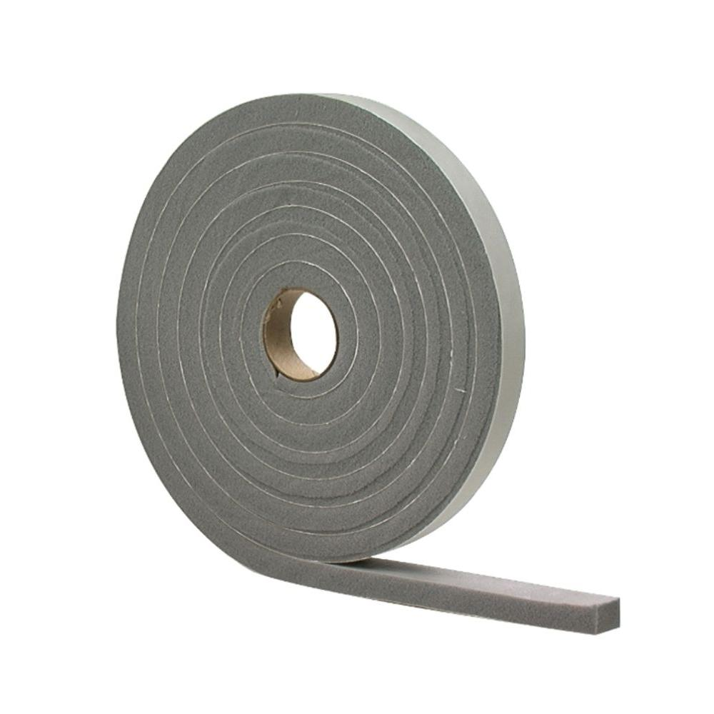 M D Building Products 1 2 In X 10 Ft Gray High Density Pvc Foam Weatherstrip Tape 02311 The Home Depot M D Building Products Weather Stripping Foam Tape
