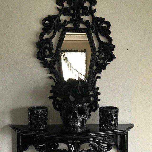 Photo of Gothic Victorian Coffin Mirror