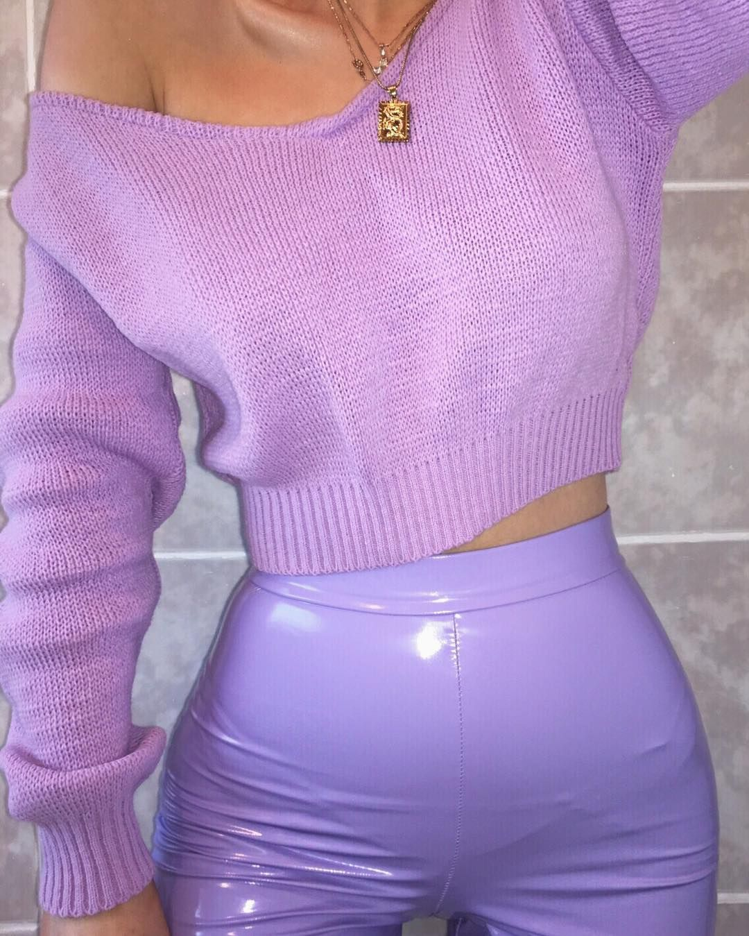 fac6bab7bb281 pastel outfit | liquid leggings | purple outfit | spring outfit | #ootd