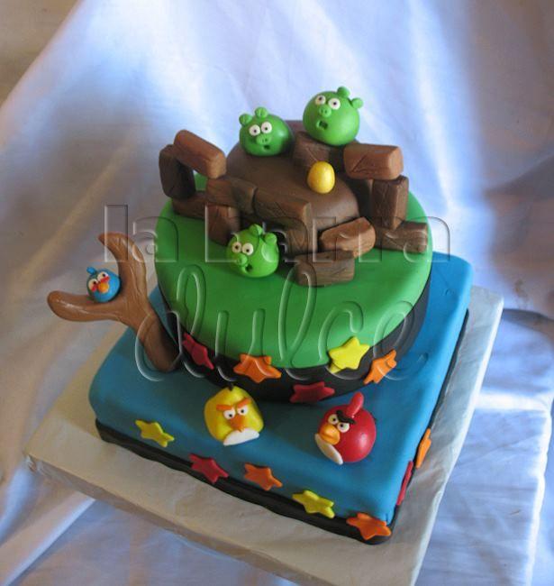 cake fondant angry birds golden eggs space star wars birds ...