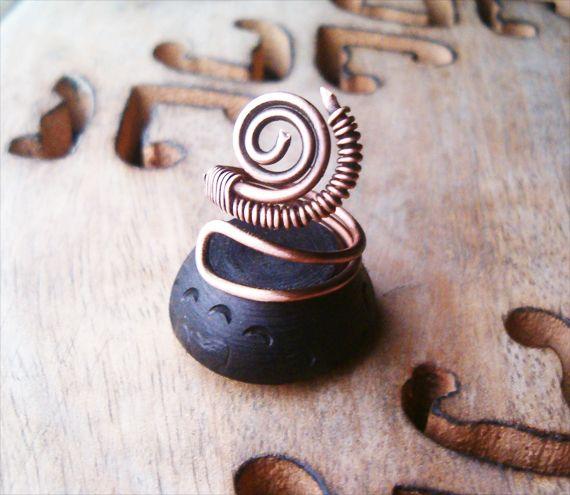 Steampunk  Wire Wrapped Copper Ring by bleek70.deviantart.com on @deviantART