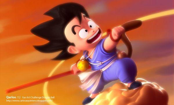 Son Goku by Qarlos , via Behance