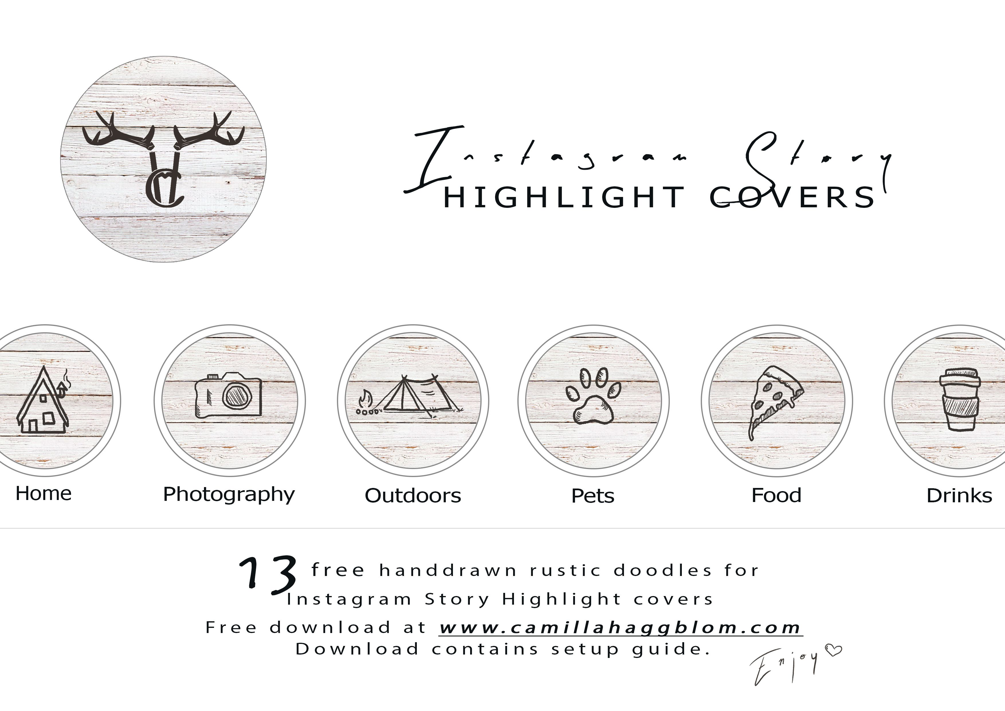 FREE Instagram Highlights cover dowloadables on my website