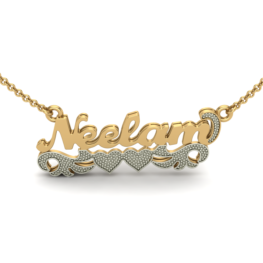 Gift your women with a full name customized necklace on the special anniversary occasion. An exclusive design with a beautiful floral design makes this pendant into a lucky charm with a shiny gold plating. This is a personalised piece that's designed with your recommendation. Plz Tag, comment and share, if you love it, or want it! Price - 5995/- Shop Now - http://www.orosilber.com/…/Personalized…/cid-CU00270386.aspx