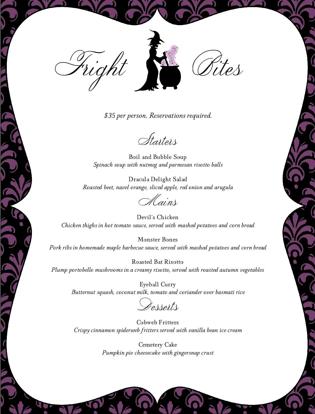 Dinner Party Ideas At A Restaurant Part - 37: Halloween Restaurant Menu - MustHaveMenus. Halloween Dinner PartiesHalloween  Party IdeasHolidays ...