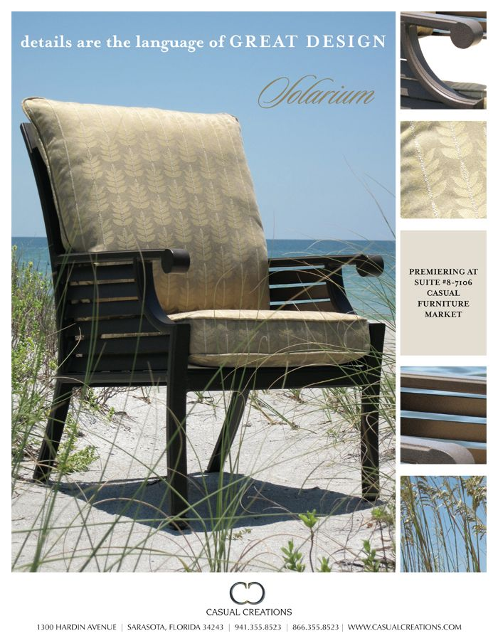 Superbe Client: Casual Creations / Project: Casual Furniture Market Magazine Ad /  Location: Whitfield