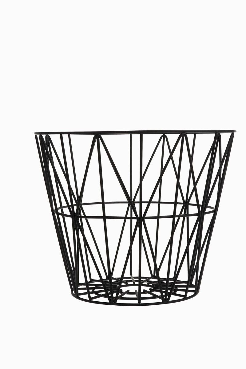 Black Wire Basket By Ferm Living In 2018 Decorating Ideas Basic Household Wiring Clip Art Coffee Table Base Add A Glass Circular Top