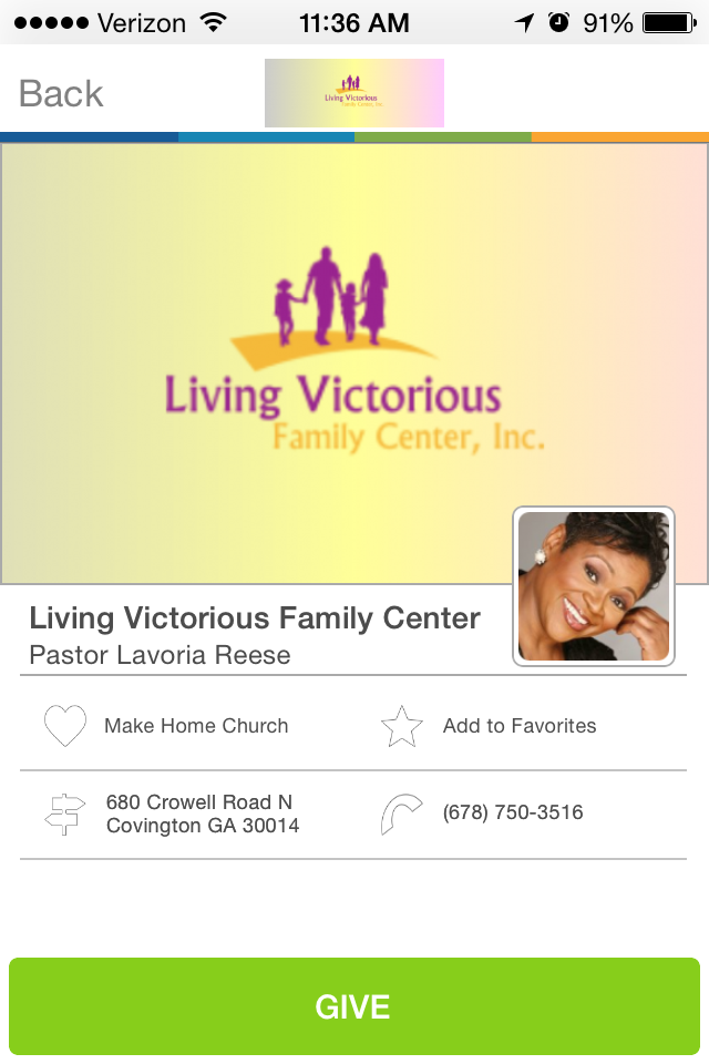 Living Victorious Family Center in Covington,