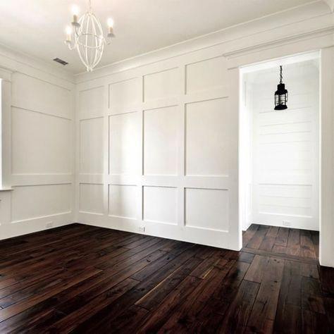 Bedroom Board Batten And Shiplap Walls Walnut Wide Plank Tung