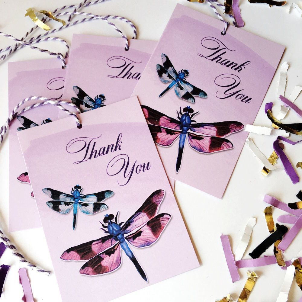 Wedding Gift Ideas On A Budget: Dragonfly Gift Ideas And Free Gift Tags